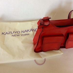 Kazuyo Nakano Bags - Kazuyo Nakano structured red leather shoulder bag